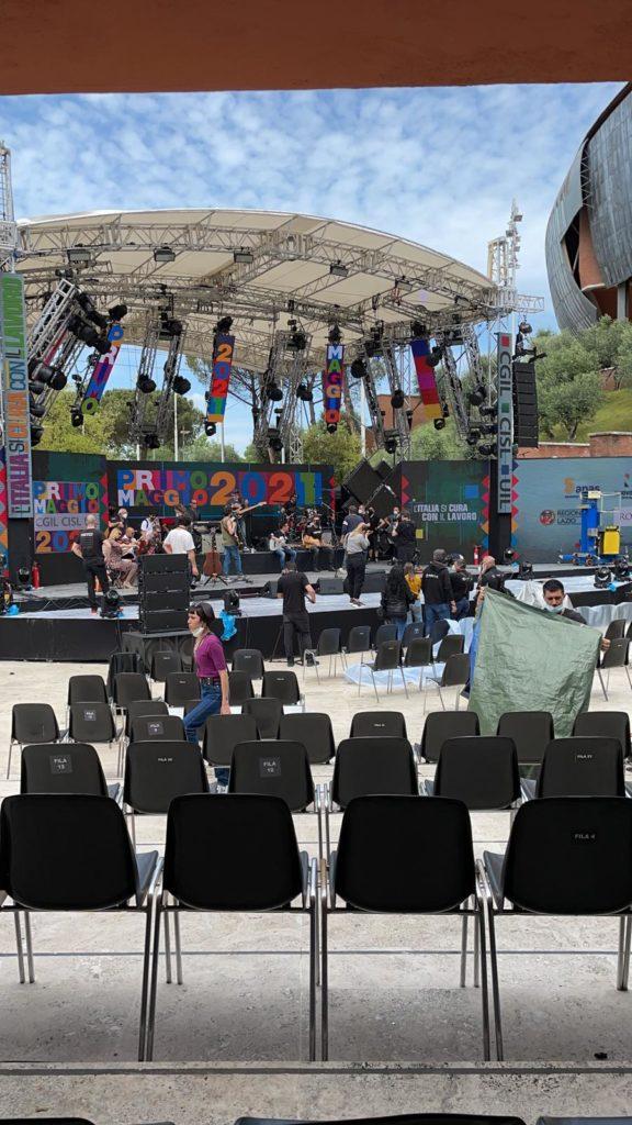 Il Palco del Primo Maggio all'Auditorium Parco della Musica